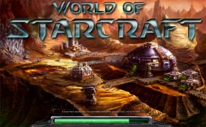 Pantalla de carga de World of Starcraft, ahora StarCraft Universe