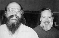Ken Thompson y Dennis Ritchie, creadores de Unix