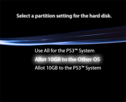 PS3 OtherOS Partition