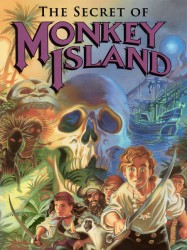 Póster creado por Steve Purcell para The Secret of Monkey Island